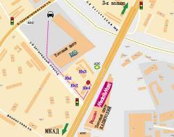 "Путь пешехода от остановки торгового центра ""РИО"" до магазина LRplus"