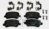Не оригинальные задние тормозные колодки для Кange Rover Evoque. Артикул LR027129