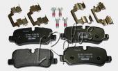 Не оригинальные тормозные задние колодки на Range Rover Sport. TEXTAR Германия.