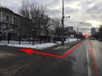 Проезд по Загородному шоссе в сторону центра. Поворот направо на заводскую территорию после бетонного забора.