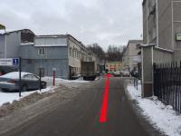 Далее прямо до здания с вывеской HOSTEL, затем направо.